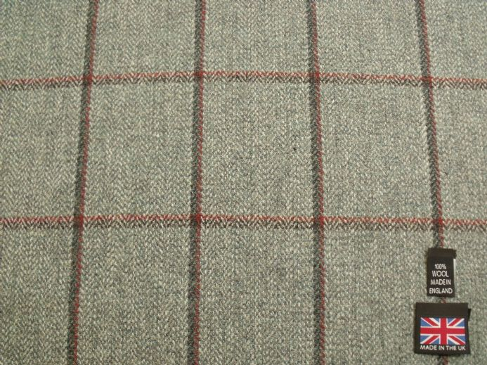 Country Tweed Shadow Windowpane Check Fabric AZ91